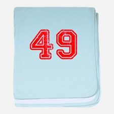 49-Col red baby blanket