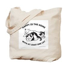 HAPPY IS THE HOME Tote Bag