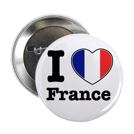 "I love France 2.25"" Button (100 pack)"