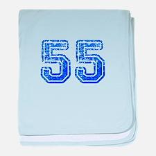 55-Col blue baby blanket