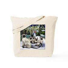 Siamese Cats Tote Bag