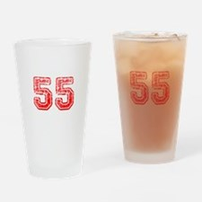 55-Col red Drinking Glass