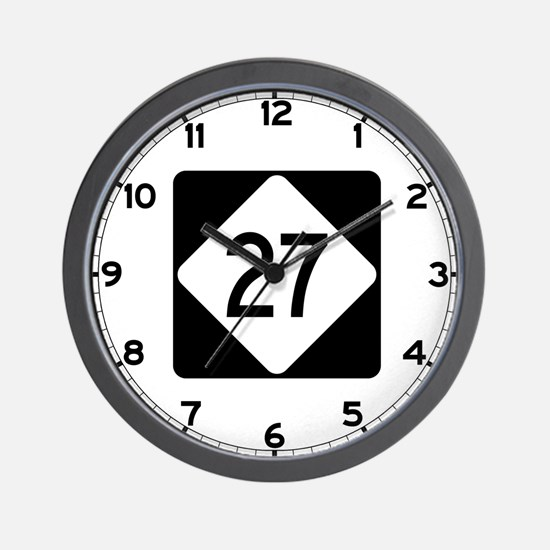 Highway 27, North Carolina Wall Clock