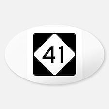 Highway 41, North Carolina Sticker (Oval)