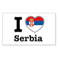 I love Serbia Rectangle Decal