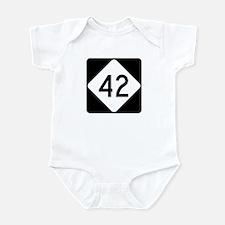 Highway 42, North Carolina Infant Bodysuit