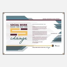 Cute Social work month Banner
