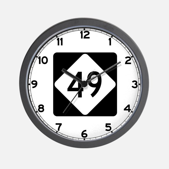 Highway 49, North Carolina Wall Clock