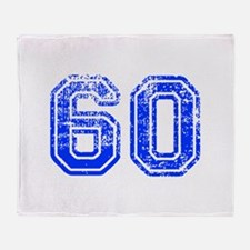60-Col blue Throw Blanket