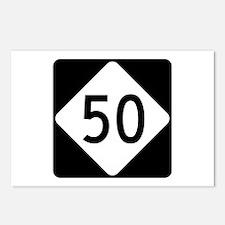 Highway 50, North Carolin Postcards (Package of 8)