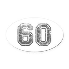 60-Col gray Oval Car Magnet