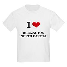 I love Burlington North Dakota T-Shirt