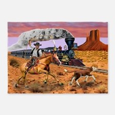 COWBOY TO THE RESCUE 5'x7'Area Rug