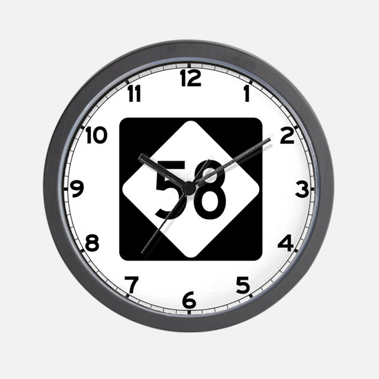 Highway 58, North Carolina Wall Clock