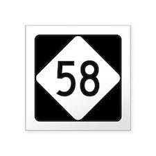 "Highway 58, North Carolina Square Sticker 3"" x 3"""
