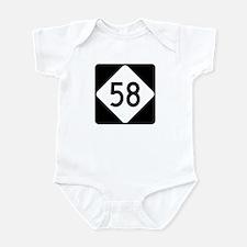 Highway 58, North Carolina Infant Bodysuit