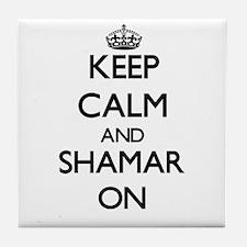 Keep Calm and Shamar ON Tile Coaster