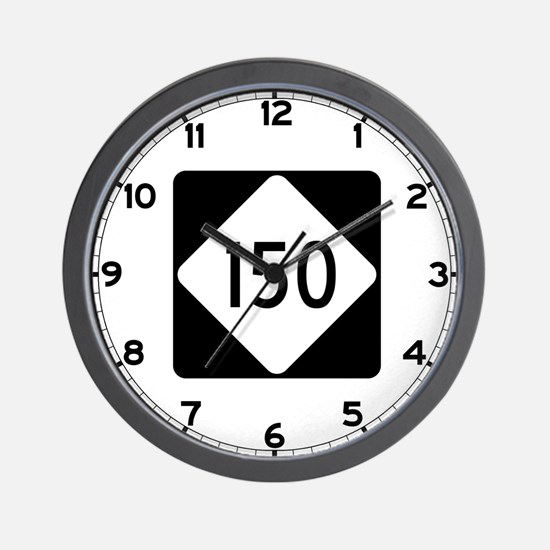 Highway 150, North Carolina Wall Clock