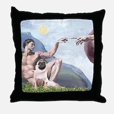 Creation-Pug 1 Throw Pillow