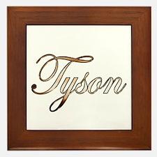 Gold Tyson Framed Tile