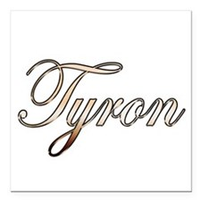 "Gold Tyron Square Car Magnet 3"" x 3"""