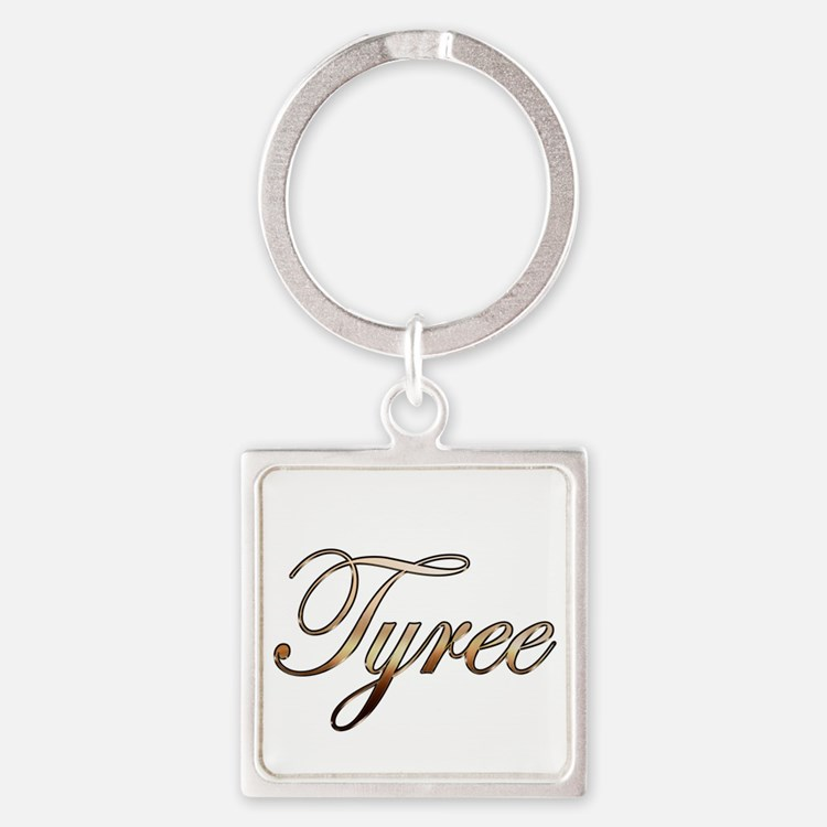Gold Tyree Square Keychain