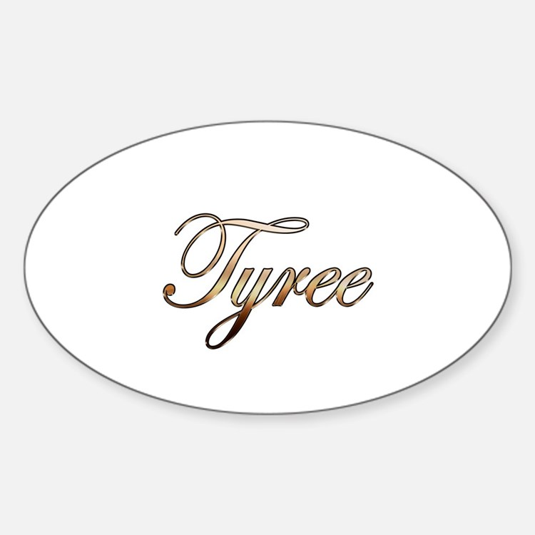 Gold Tyree Sticker (Oval)