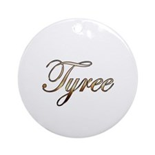 Gold Tyree Round Ornament