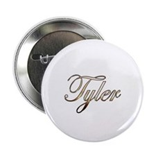 "Gold Tyler 2.25"" Button"