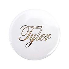 """Gold Tyler 3.5"""" Button"""