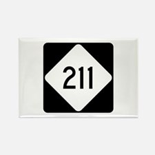 Highway 211, North Caro Rectangle Magnet (10 pack)
