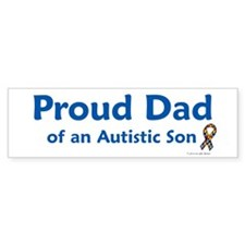 Proud Dad Of Autistic Son Bumper Bumper Sticker