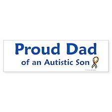Proud Dad Of Autistic Son Bumper Bumper Sticker