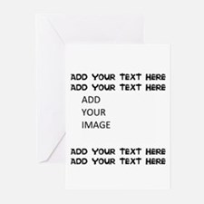 Custom Text And Image Greeting Cards
