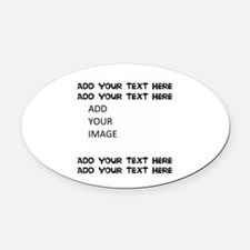 Custom Text And Image Oval Car Magnet