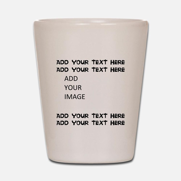 Custom Text and Image Shot Glass
