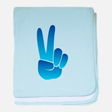 Peace Sign baby blanket
