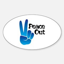 Peace Out Decal