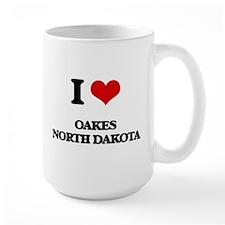 I love Oakes North Dakota Mugs