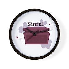 Sinful Wall Clock