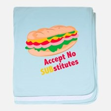 Accept No Substitutes baby blanket