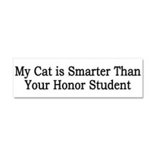 Cat Honor Student Car Magnet 10 X 3