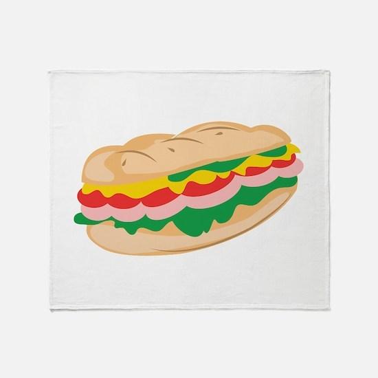 Sub Sandwich Throw Blanket