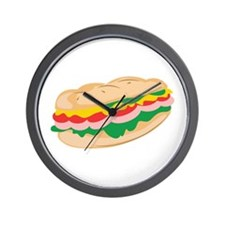 Sub Sandwich Wall Clock