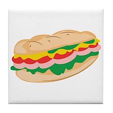 Sub Sandwich Tile Coaster