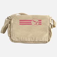 Gymnastics Stripes (Pink) Messenger Bag
