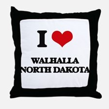I love Walhalla North Dakota Throw Pillow