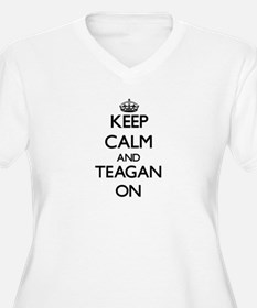 Keep Calm and Teagan ON Plus Size T-Shirt