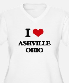 I love Ashville Ohio Plus Size T-Shirt