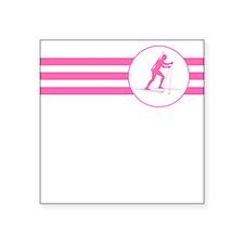 Biathlete Stripes (Pink) Sticker
